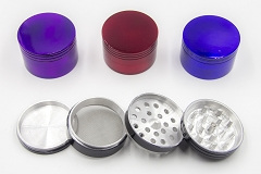 63mm 4 Part Solid Colored Grinder