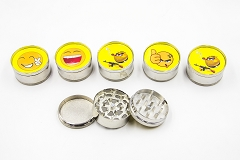 3 Part Smiley 51mm Grinder (Buy 12pc $2.50 each) GR041