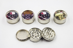 3 Part Hard Skull 51mm Grinder (Buy 12pc $2.50 each) GR041