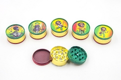 3 Part 51mm Rasta Marley Metal Grinder (Buy 12pc $2.50 each) GR041