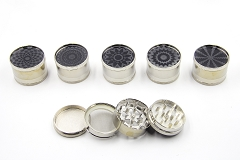 4 Part Black Design 51mm Grinder (Buy 12pc $2.99 each)
