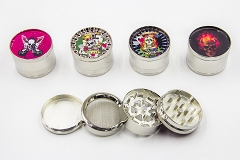 4 Part Different Designs 51mm Grinder (Buy 12pc $2.99 each)