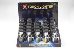 Triple Flame Torch Lighter Box 25ct NS-1704