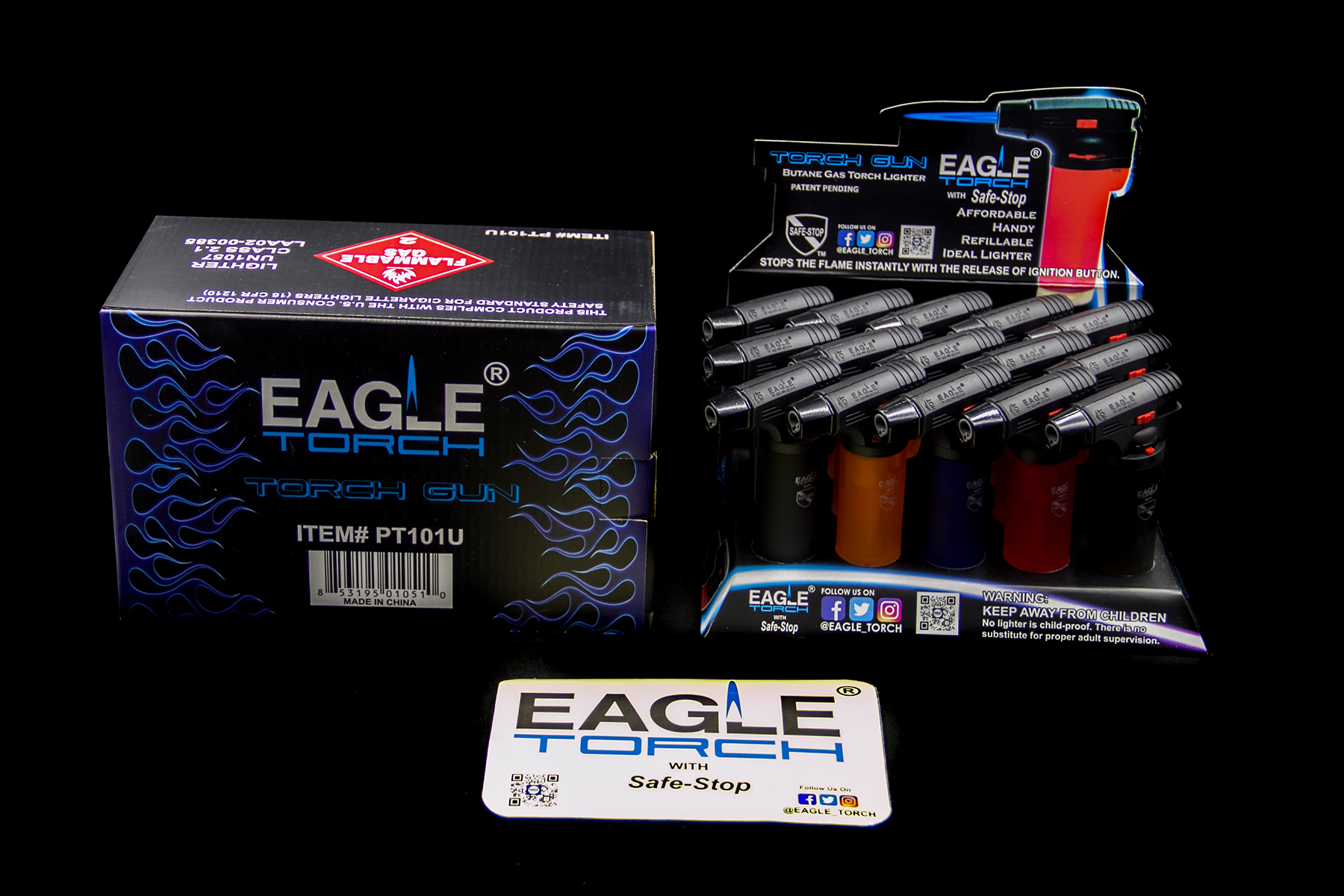 15CT Eagle Torch Lighters Diff Colors PT-101U