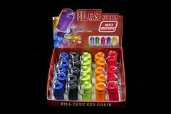 Mini Battery Pill Case Keychain (Buy 25pc Display $1.25 each)