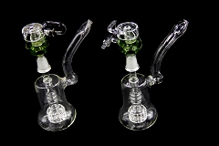 14mm Clear Round Shower Perc Bubbler W/ Honey Bucket Bowl
