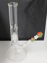 Clear Base Crystal Pinch Water Pipe W/ Stem, Bowl & Nail
