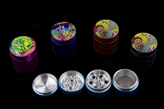 50mm 4 Part Rick & Morty Colored Aluminum Grinder