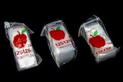 1.25 x 1.25 Apple Clear Bags ( 20 pack in Bag )