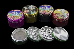32mm 4 Part Rick & Morty Designed Colored Aluminum Grinder