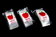 1.5 x 1.5 Apple Clear Bags ( 20 pack in Bag )