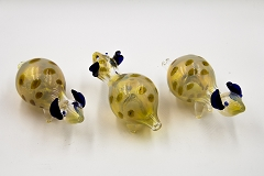 Colored Dots Kangaroo Animal Glass Pipe