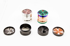 4 Part 63mm Whirl Mixed Metal Grinder (Buy 6pc Display Box $6.99 each) MG-041