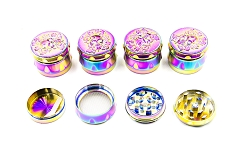45mm 4 Part Top Skull Rainbow Metal Grinder (Buy 12pc Display $5.50 each) GR168-45SK