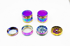 4 Part Rainbow Drum Grinder (Buy 8pc Display Box $5.99 each) MG-039