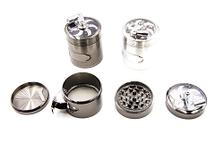 63mm 4 Part Handle & pollen Catcher Grinder (Buy 6pc Display Box $7.50 each) MG-006