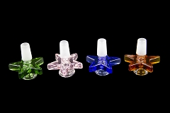 14mm Male Colored Star Design Glass Bowl