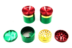 4 Part Rasta Dip w/ Open Window Metal Grinder (Buy 6pc Display Box $6.99 each) MG-017B