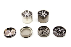 4 Part Lightning Design w/ Window Metal Grinder (Buy 6pc Display $6.25 each) MG-030