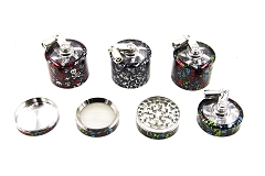 52mm 4 Part Skull Design Handle Grinder (Buy 6pc Display Box $6.99 each) GR090-52SK