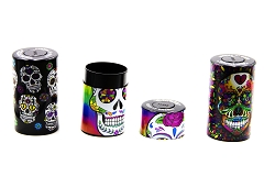 Candy Skull UV Painting Sealed Container 6ct Display Box CT-01CSK