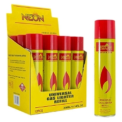 Neon Yellow Universal Butane Fluid 300ml 12ct Display Box