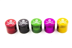 50mm 4 Part Skull Design Colored Metal Grinder