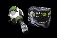 Camo Color Gas Mask w/ Plastic Water Pipe Different Colors (Comes with Box) MA-004