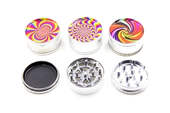 51mm 3 Part CC Design Mixed Metal Grinders (Buy 12pc Display Box $1.99 each) GR041-FCC