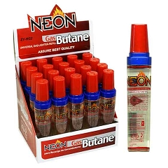 Neon Gas Butane Refill 18ml 20ct Display Box ZYRG2