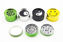 51mm 3 Part Mixed Designs Metal Grinders (Buy 12pc Display Box $1.99 each) GR041-DC