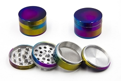 56mm 4 Part Rainbow Colored Aluminum Grinder