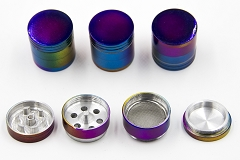 32mm 4 Part Rainbow Colored Aluminum Grinder