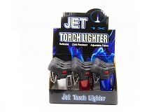 Metallic Finish Jet Torch Lighter 12ct Display Box 9474MT