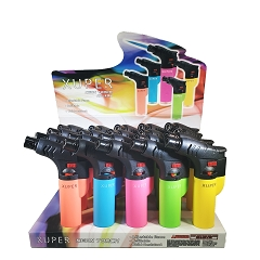Xuper Torch Neon Angle Torch Lighters 20ct Display Box 98-1149N