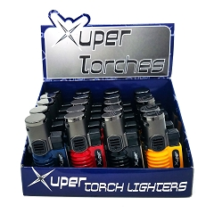 Xuper Torch Solid Colored 3 Flame Torch Lighter 20ct Display Box 98-798