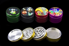 56mm 4 Part Colored Rick & Morty Aluminum Grinder