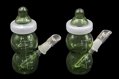 Green Black Baby Bottle W/ Nail & Dome