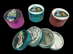 56mm 4 Part Colored Rick & Morty Designed Aluminum Grinder