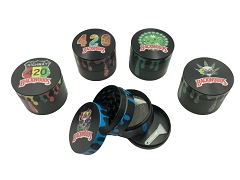 50mm 4 Part Black Backwoods Designs Aluminum Grinder (Buy 12ct Box $4.50 each)