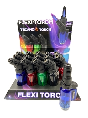 Techno Torch Transparent Flexi Torch Lighter 15ct Display Box 00169