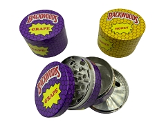 63mm 4 Part Backwoods Grape & Honey Aluminum Grinder (Buy 6ct Display $6.25 each) TG-BW1