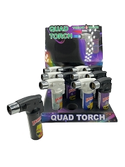 Techno Torch 4 Flame Backwood Simpson Quad Torch Lighter 12ct Display Box 26340BWSI