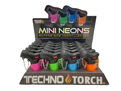 Techno Torch Mini Angled Neon Torch Lighter 20ct Display Box 10558N