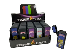 Techno Torch Backwoods Simpson Flip Top Torch Lighter 25ct Display Box 258-SI