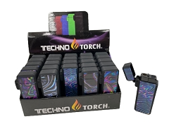Techno Torch Weed Art Flip Top Torch Lighter 25ct Display Box 258-WA2