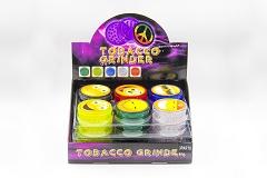 3 Part 60mm Smiley Face Sticker Plastic Clear Grinder (Buy 24pc $0.85 each) GR044
