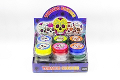 3 Part 60mm Skull Sticker Plastic Clear Grinder (Buy 24pc $0.85 each) GR044