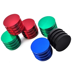 43mm 4 Part Colored Designed Cut Metal Grinders (Buy 12ct Display Box for $4.25 each) GRZ114