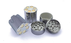 42mm 3 Part Bullet Cut Metal Grinders (Buy 12ct Display for $3.50 each) GRZ240
